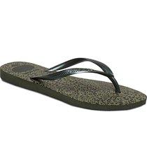 hav slim animals shoes summer shoes flip flops grön havaianas