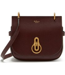 mulberry small amberley leather shoulder bag - burgundy