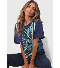 camiseta dimy geométrica azul-marinho