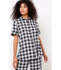 loft buffalo plaid pajama top