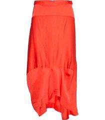 noella knälång kjol orange rabens sal r