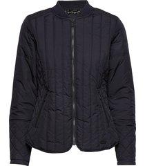 quilt jacket doorgestikte jas blauw ilse jacobsen