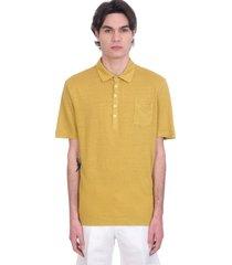 massimo alba filicudi polo in yellow linen