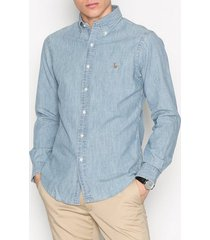 polo ralph lauren slim fit chambray shirt skjortor medium