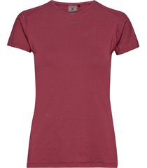 adv essence ss slim tee w t-shirts & tops short-sleeved röd craft