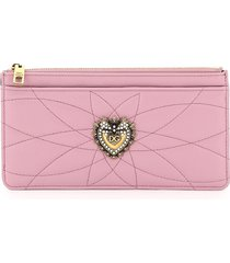 dolce & gabbana devotion card holder pouch quilted nappa