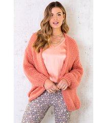 oversized knitted vest dust