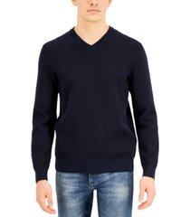 ax armani exchange men's textured v-neck sweater