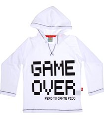 buzo blanco cante pido game over