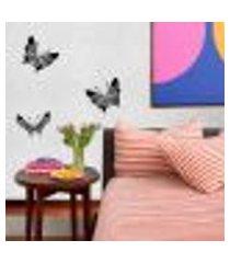 adesivo de parede borboletas tribais - médio