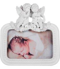 porta retrato anjos de resina foto 10x15 - incolor - dafiti
