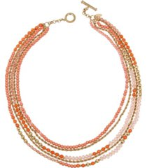 miriam haskell new york mixed bead layered necklace