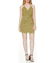 bcbgeneration faux-wrap animal-print mini dress