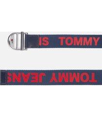 tommy jeans women's logo webbing belt 3.0 - corporate - 90cm