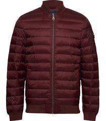aiden bomber down jacket gevoerd jack rood lexington clothing