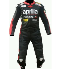 mens multicolor motorcycle leather suit with jacket pant saftey pads for aprilia