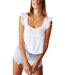 cotton on babydoll frill sleeve top