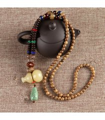 collana d'epoca etnica vintage zucca di cera d'api turchese collana di fascino del maglione per le donne