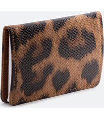 katy leopard metal card case - leopard