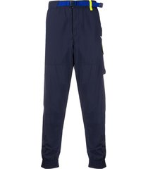 polo ralph lauren belted tracksuit trousers - blue