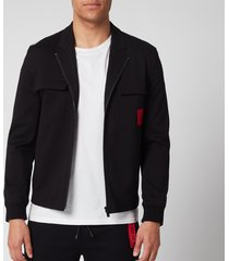 hugo men's urel zip jacket - black - m