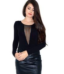 body up side wear decotado preto