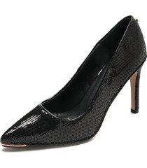 zapato tacón alto color negro paris hilton p48