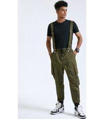correa de cinta ajustable multibolsillos lisa para hombre carga pantalones