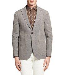 deconstructed cotton & linen jacket