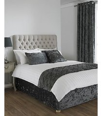 """deep pile crushed velvet pewter king size bed wrap scarf 150x200cm (5'x6'6"""")"""