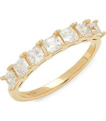 adriana orsini women's 18k yellow goldplated & crystal ring/size 8 - size 8