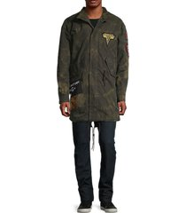cult of individuality men's m65 faux fur-trim 2-in-1 parka - army - size l