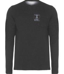 t-shirt masculina double rising - preto