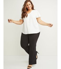 lane bryant women's curvy allie tailored stretch trouser pant 14 black