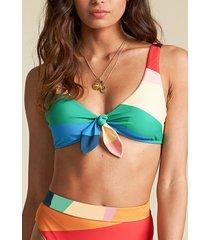bikini sosten mas fiestas tie tank multicolor billabong