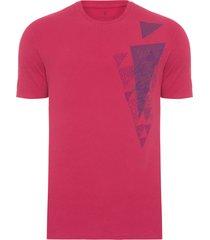 t-shirt masculina textura plastisol - vermelho