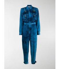 stella mccartney bleached denim jumpsuit