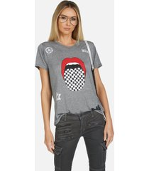 capri checker tongue - heather grey xl