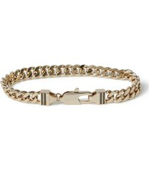 mens gold capsule chain bracelet*