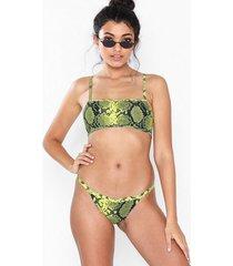 topshop neon yellow snake tanga bikini bottoms trosa