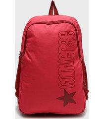 mochila  wordmark speed   backpack rosa converse
