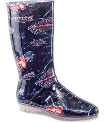 botas feminela amapola azul-multi para mujer croydon