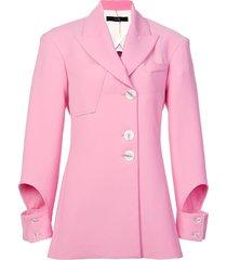ellery cut out cuff blazer - pink