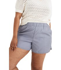 women's madewell pull-on shorts, size small - blue