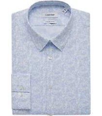 calvin klein blue frost extreme slim fit dress shirt