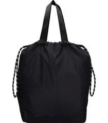 ganni tote in black polyester