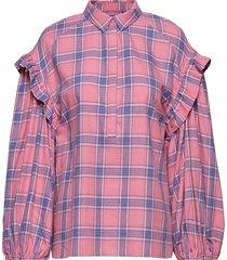 dollar overhemd met lange mouwen roze munthe