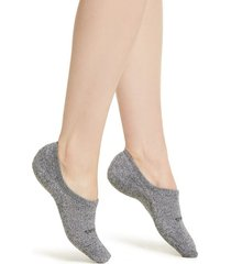 women's bombas cushioned no-show socks, size medium - grey