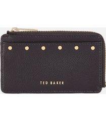 ted baker women's kaittie studded zipped card holder - black
