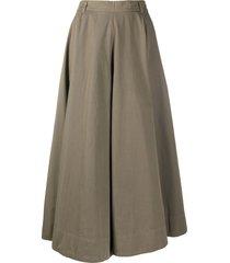 aspesi high-waist full skirt - grey